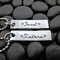 Soul Sisters - Necklace set for sisters and best friends