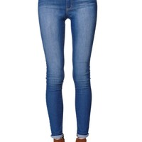 Bullhead Denim Co Super High Rise Skinniest 5 Pocket Jeans - Womens Jeans - Blue -