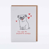 Gemma Corell You Are My Favourite Weirdo Card - Urban Outfitters