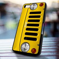 Jeep Wrangler yellow design for iPhone 4/4s, Iphone 5, Samsung Galaxy S3, Samsung S4, Blackberry Z10, Ipod 4 & from stevaz store