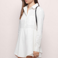 In The Palm Of My Hand Shirt Dress $40