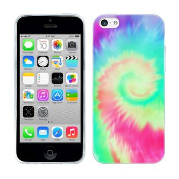 Head Case Designs Helicoid Tie Dye Gel Back Case Cover for Apple iPhone 5c
