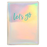 Let's Go Iridescent Passport Case
