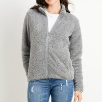 Fleece Zipper Jacket - Grey