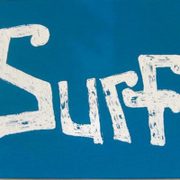 Vintage Style Beach House Surf Original Hanging Wall Art  on Canvas  with Acrylics
