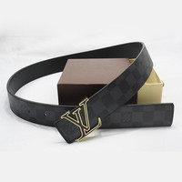 Perfect Louis Vuitton LV Woman Fashion Smooth Buckle Belt Leather Belt