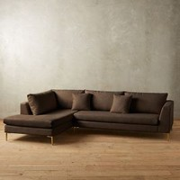 Linen Edlyn Left Sectional by Anthropologie