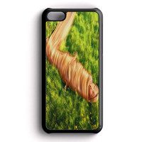 Funny Tangled Rapunzel Playing With Her Hair iPhone 5C Case