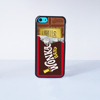 Willy Wonka Golden Ticket Design Plastic Case Cover for Apple iPhone 5C 6 Plus 6 5S 5 4 4s