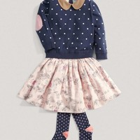 Girls Limited Edition Polka Dot Sweater And Skirt Set