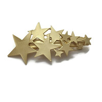 Gold Star Hair Clip 18K Gold Plated Hair Clip by IrisandAthena