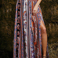 Women Tribal Floral Skirt Maxi Beach Long Casual Skirt