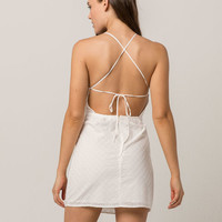 IVY & MAIN Eyelet Open Back Dress