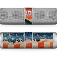 The Scratched Surface Peeled American Flag Skin for the Beats by Dre Pill Bluetooth Speaker