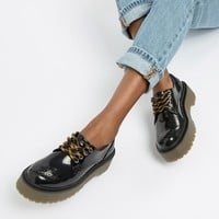 Pull&Bear chunky sole brogues in Black | ASOS