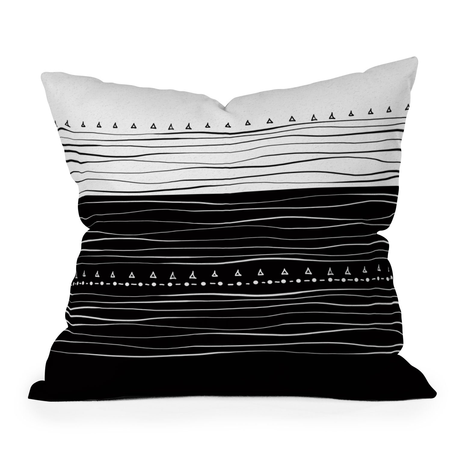 Image of Viviana Gonzalez Black and white collection 01 Throw Pillow