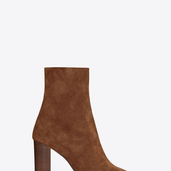 Joplin 95 ankle boot in caramel suede