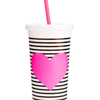 Neon Heart Sip Sip Tumbler With Straw
