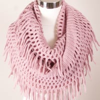 Ribbed Infinity w/fringe - Multiple Colors