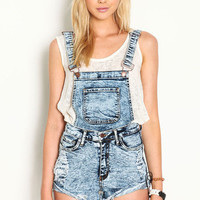 TWO PIECE CUT OFF OVERALLS