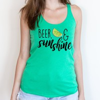 Beer, Lime, & Sunshine Tank