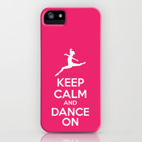 keep calm & dance on iPhone Case by red.lime art&design