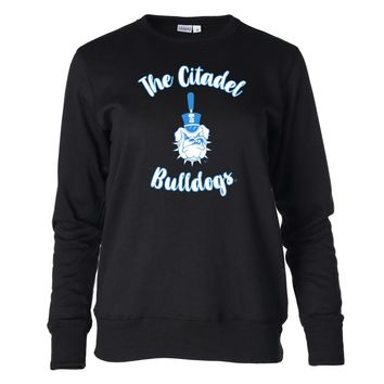 Official NCAA The Citadel Bulldogs RYLCIT02 Women's Fleece Crew Neck Sweatshirt