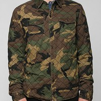 Charles & 1/2 Quilted Sherpa Shirt Jacket - Urban Outfitters