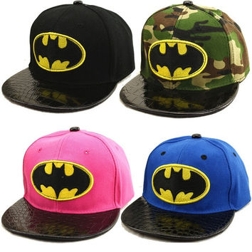 Unisex Children Hip-Hop SnapBack Batman Sunny School Caps Boys Girls Sports Baseball Visor Sun Hats = 1927803588