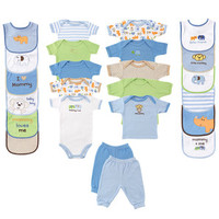 Luvable Friends 24-Piece Deluxe Safari Gift Cube   Affordable Infant Clothing