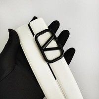 Valentino hot seller of plain color casual belts and fashionable belts for men and women White belt #2