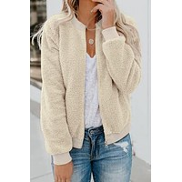 Leliah Soft Terry Cloth Bomber Jacket