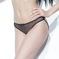 Sexy Sheer Crotchless Panty Coquette