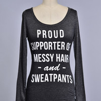 Proud Supporter Shirt -Charcoal