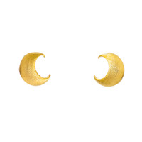 Celestial Moon Studs - One Size / Gold