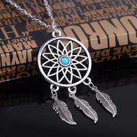 Dream Catcher Turquoise Necklace & Earrings Set