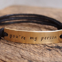 You are my person bracelet, Bridesmaid bracelet, personalized bracelet, Unique groomsmen Bracelet, wedding bracelet, wedding jewelry