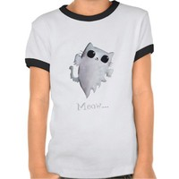 Scary Kitty Cat Ghost Tees from Zazzle.com