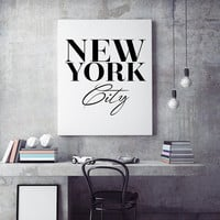 New York City Wall Art, Scandinavian print, Black and White Poster, Canvas Art Painting Wall Pictures For Living Room, No Frame