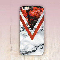 Red Roses Marble Print Phone Case  - iPhone 6 Case - iPhone 5 Case - iPhone 4 Case - Samsung S4 Case - iPhone 5C - Tough Case - Matte Case