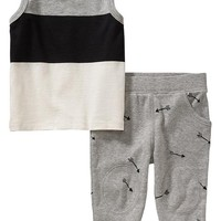 Old Navy Color Block Tank & Pants Sets For Baby
