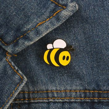 Cartoon Cute Mini Honeybee Brooch Pin Badge Pins Denim Jacket Coat Clothing Pin Button Brooches Animal Jewelry Gifts for Kids