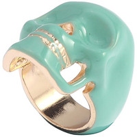 ROMWE   Hollow-out Diamante Skull Green Ring, The Latest Street Fashion