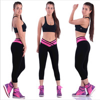 European Cropped Activewear Yoga/Running Exercise Superelastic Leggings