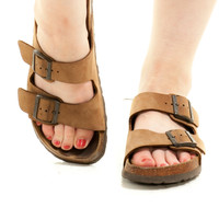 Not Quite Vintage Jesus Was Bae AF Birkenstocks - US 9