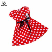 Baby Dress Summer Mouse Short sleeve Red Bow