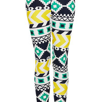 Waffle Aztec Leggings - New In This Week - New In - Topshop