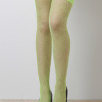 Nylon Fishnet Thigh High Socks