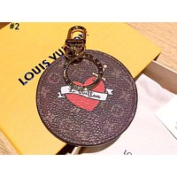 LV Louis Vuitton old flower vintage hanging keychain #2