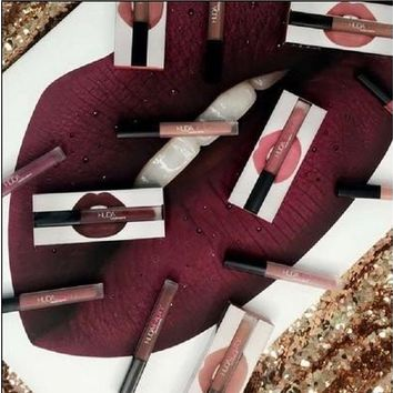 New Waterproof Liquid Lipstick Sexy Matte Long-lasting Lipstick Lip Gloss Lipliner Set Lip Kit(9 Colors) [8833987148]